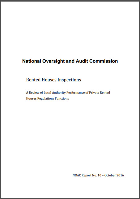A Review of Local Authority Performance of Private Rented