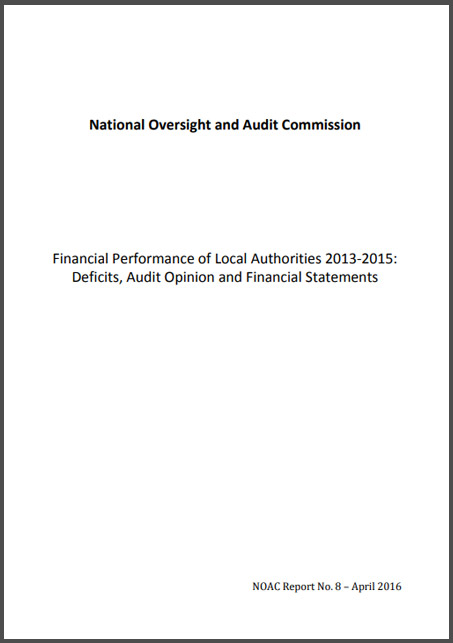 NOAC Financial Performance of Local Authorities 2013 2015