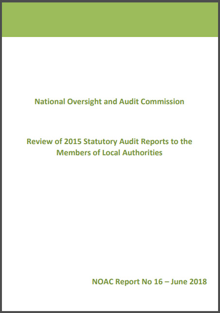 NOAC Review of 2015 Statutory Audit Reports to the Members of Local Authorities