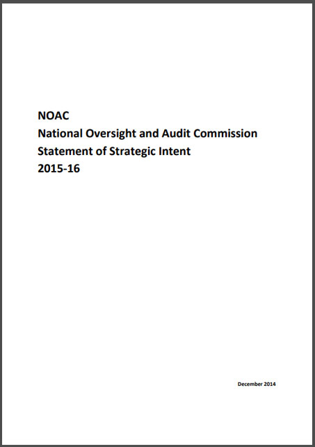 National Oversight and Audit Commission statement of strategic Intent 2015 2016