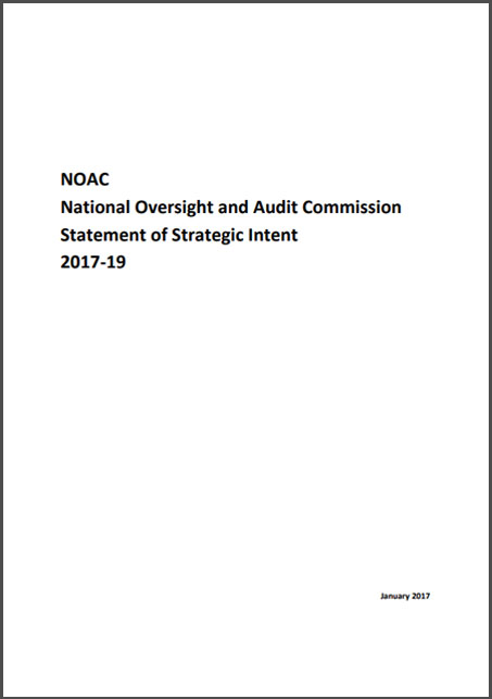 National Oversight and Audit Commission statement of strategic Intent 2017 - 2019
