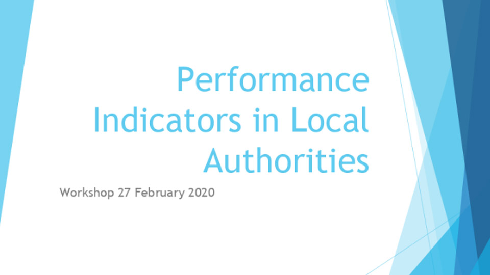 Performanc-Indicators in Local Authorities NOAC Workshop 2019